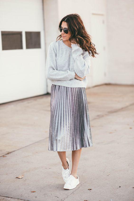image4-73   27 стильных образов с юбками, которые заставят вас позабыть о брюках!