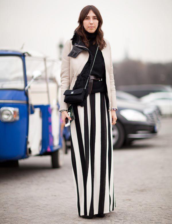 image7-48   27 стильных образов с юбками, которые заставят вас позабыть о брюках!