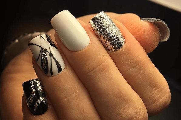 image9-1 | Черно-белая классика: идеи маникюра для элегантных девушек