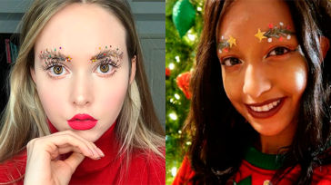 Новый новогодний тренд в современной моде — брови-ёлки!