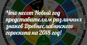 Что несет Новый год представителям различных знаков Древнеславянского гороскопа на 2018 год!