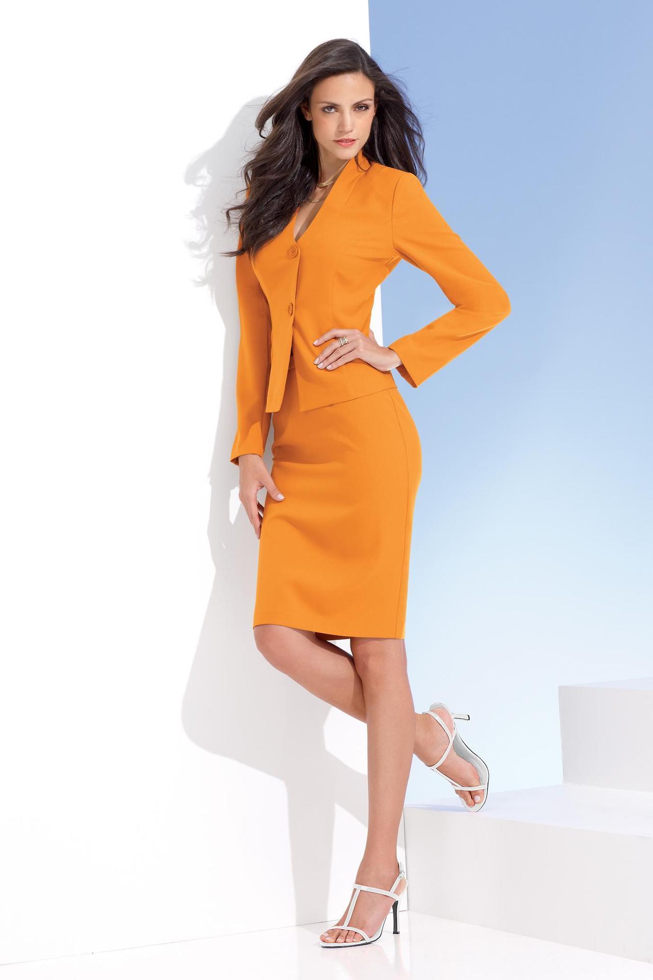 image12-51 | 20 стильных образов с юбкой и жакетом для деловых леди