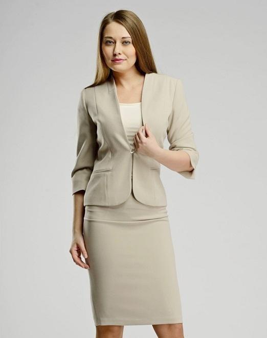 image19-26 | 20 стильных образов с юбкой и жакетом для деловых леди
