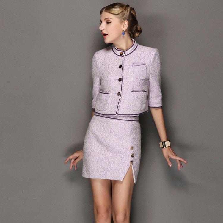 image9-54 | 20 стильных образов с юбкой и жакетом для деловых леди