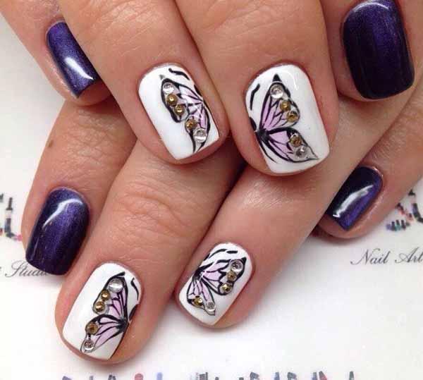 image10-48 | Восхитительный маникюр с дизайном «бабочка»