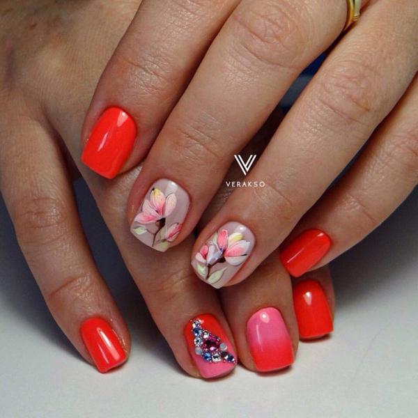 image11-63   Модный маникюр с дизайном на короткие ногти