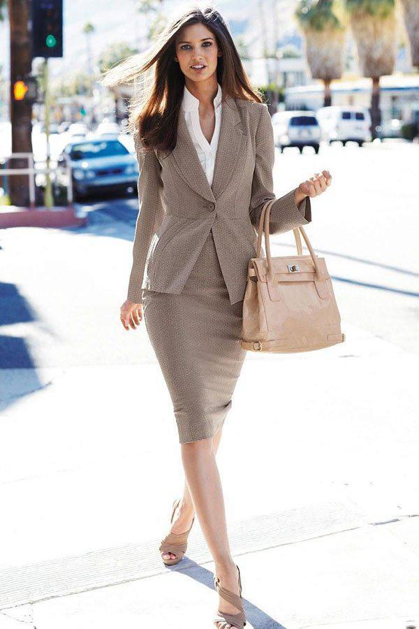 image3-145   20 стильных образов с юбкой для деловой леди
