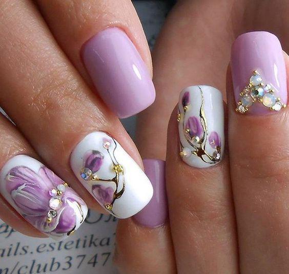 image34-7   Интересные идеи маникюра с рисунками на ногтях