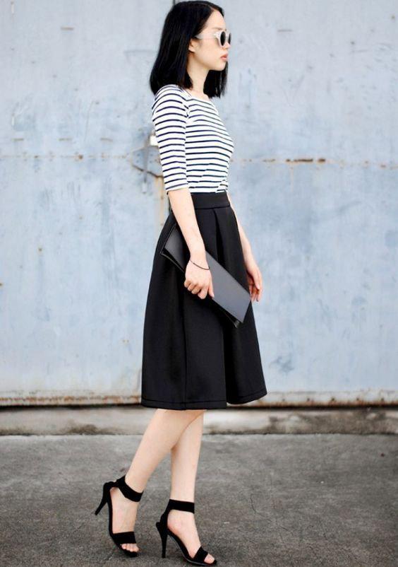 image7-61 | 10 стильных образов с черной юбкой
