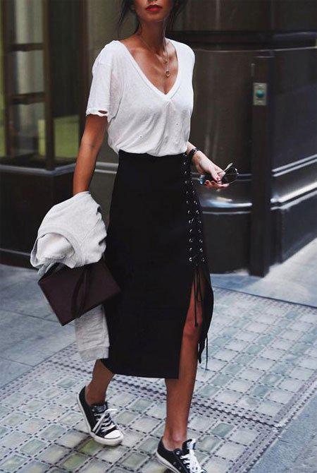 image8-47 | 10 стильных образов с черной юбкой