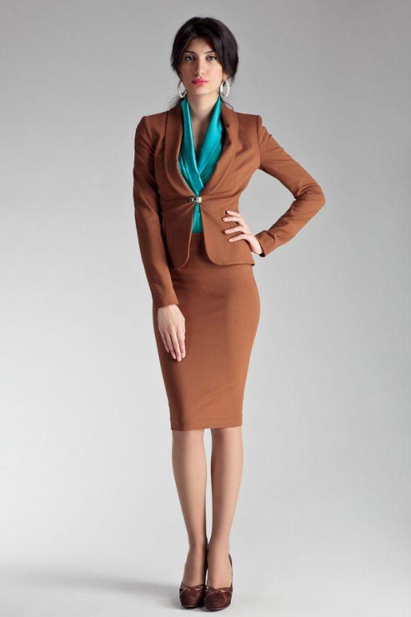 image1-62 | Утонченная элегантность — костюмы из юбки и жакета