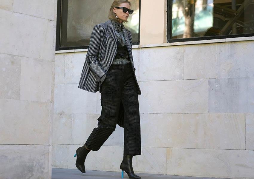 image13-64   8 стильных образов с черными брюками: модные тенденции весны 2018