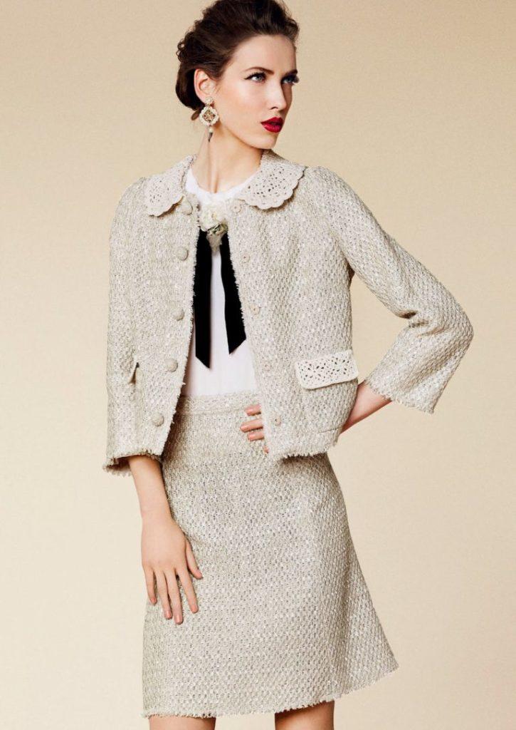 image18-25 | Утонченная элегантность — костюмы из юбки и жакета