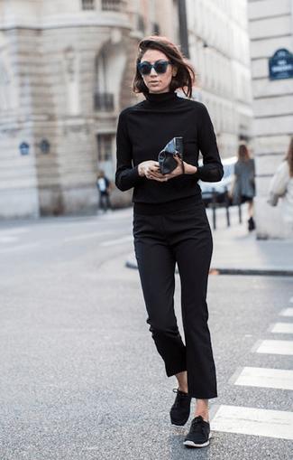 image29   8 стильных образов с черными брюками: модные тенденции весны 2018