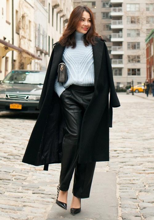 image34-8   8 стильных образов с черными брюками: модные тенденции весны 2018
