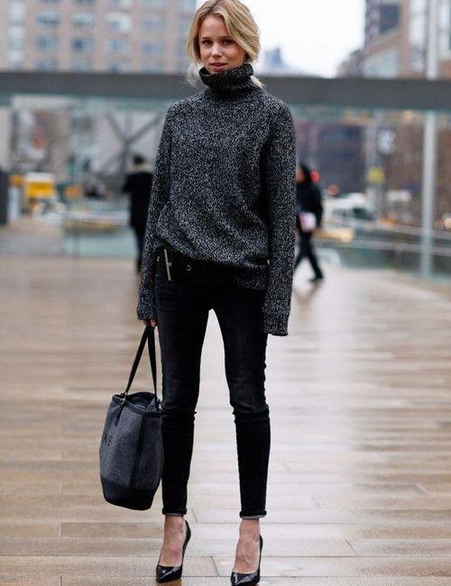 image35-7   8 стильных образов с черными брюками: модные тенденции весны 2018
