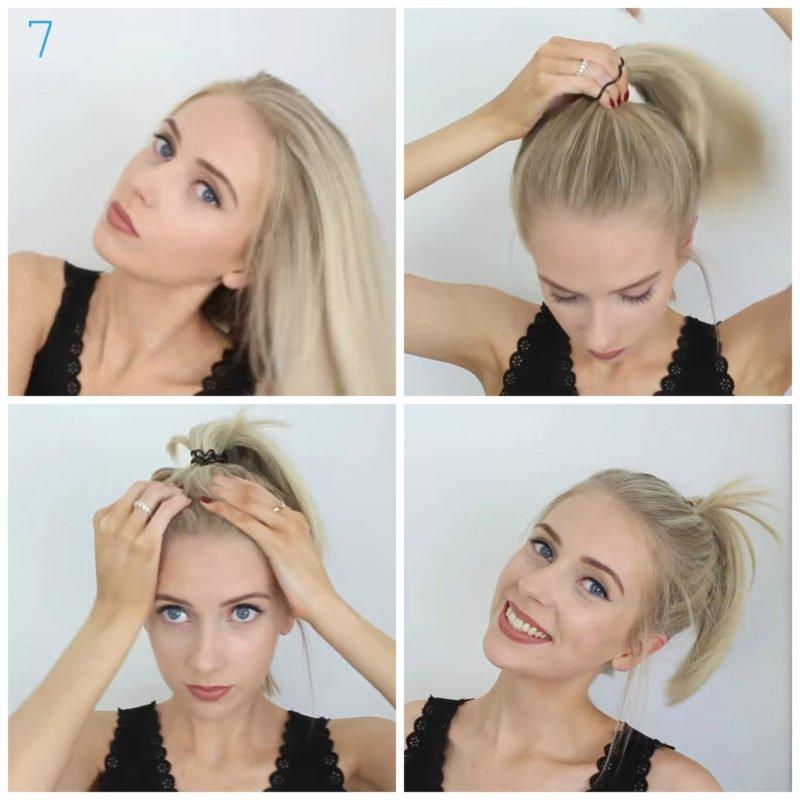 image9-19 | 10 лёгких причёсок для коротких и средних волос на каждый день