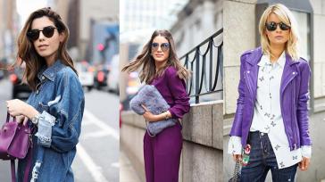 15 образов с использованием фиолетового цвета в одежде и аксессуарах — потрясающие фото!