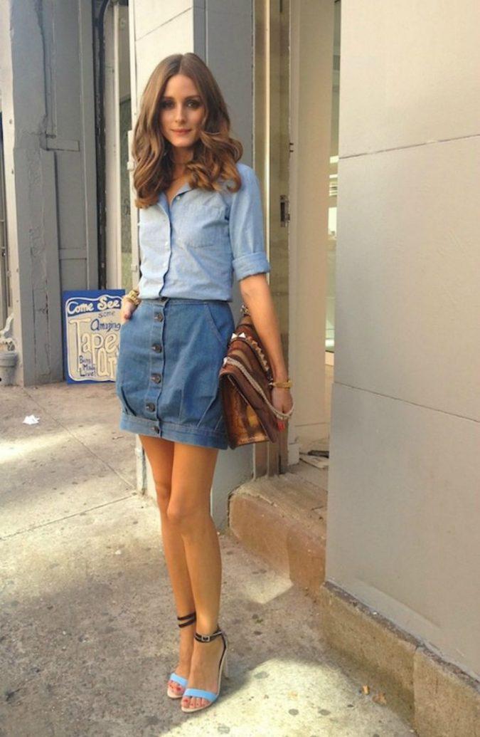 denim-skirt-women-outfit-675x1035 | 10 прекрасных идей нарядов весны и лета 2018