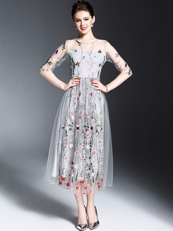 floral-midi-dress-women-summer-outfit | 10 прекрасных идей нарядов весны и лета 2018