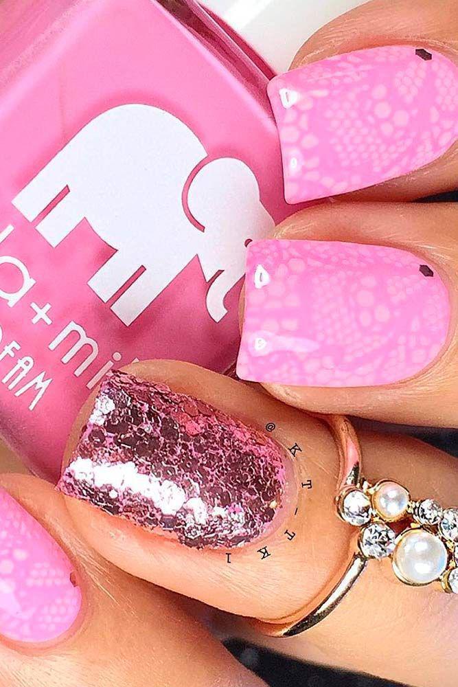 image11-29   36 вариантов стильного маникюра в модном розовом цвете «Дитя заката»