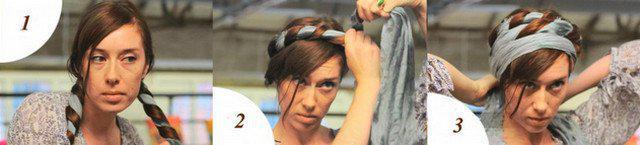 image12-7   Как красиво и оригинально повязать шарф или палантин на голову