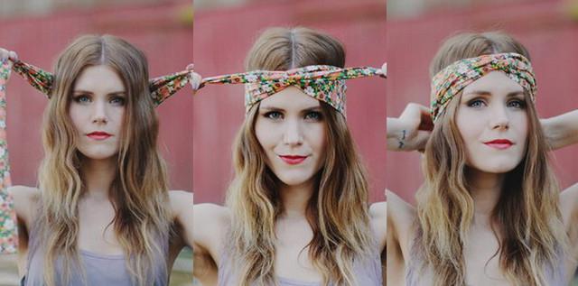 image14-6   Как красиво и оригинально повязать шарф или палантин на голову