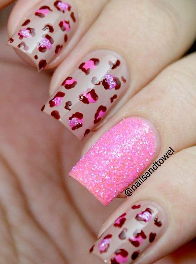 image16-27   36 вариантов стильного маникюра в модном розовом цвете «Дитя заката»