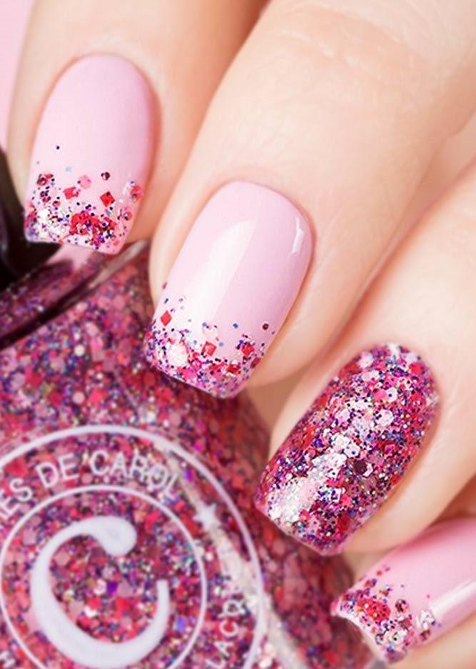 image20-26   36 вариантов стильного маникюра в модном розовом цвете «Дитя заката»