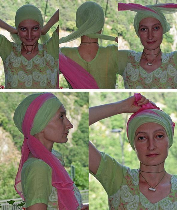 image26-2   Как красиво и оригинально повязать шарф или палантин на голову