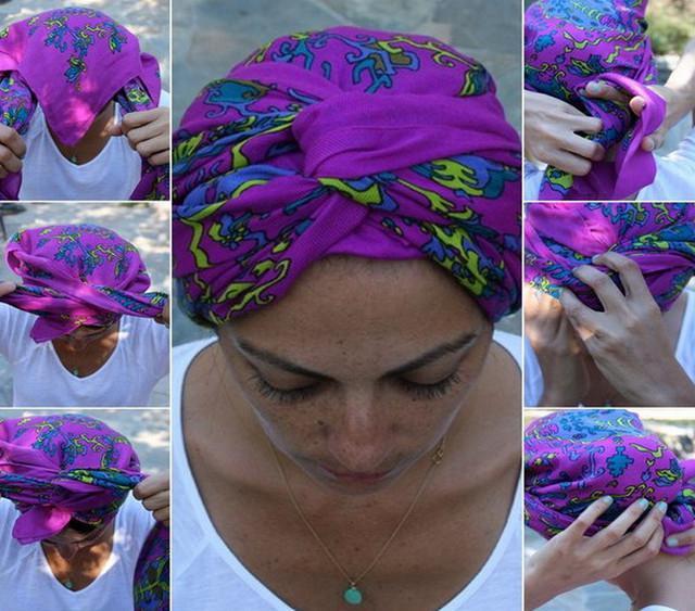 image29-2   Как красиво и оригинально повязать шарф или палантин на голову