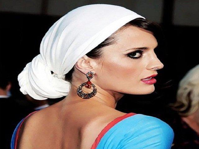 image34-2   Как красиво и оригинально повязать шарф или палантин на голову