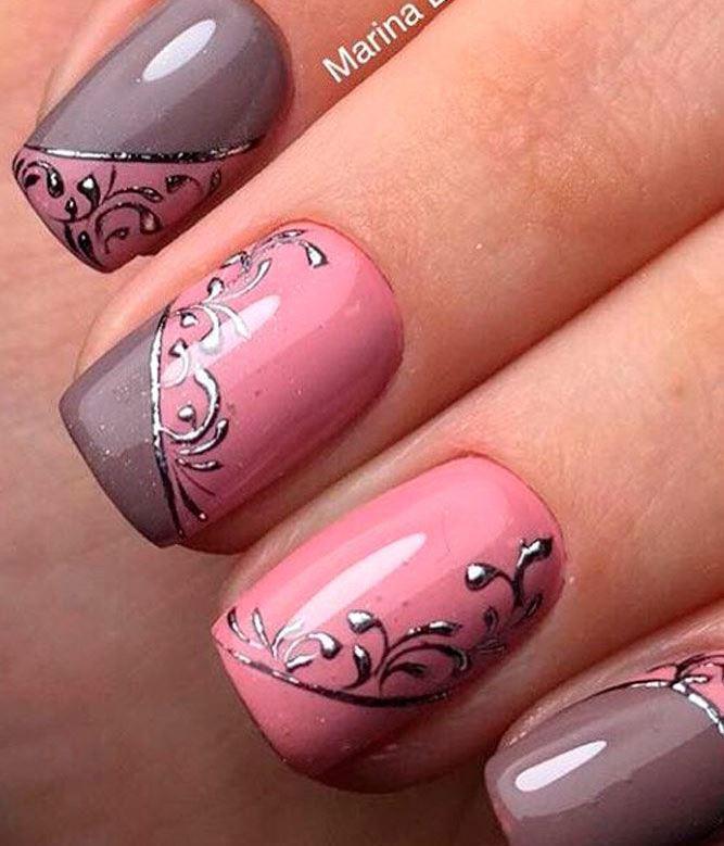 image5-46   36 вариантов стильного маникюра в модном розовом цвете «Дитя заката»