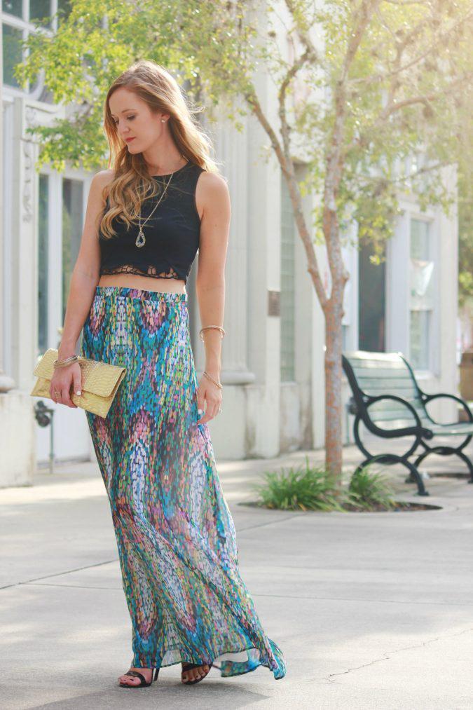 maxi-skirt-women-summer-outfit-2-675x1013 | 10 прекрасных идей нарядов весны и лета 2018