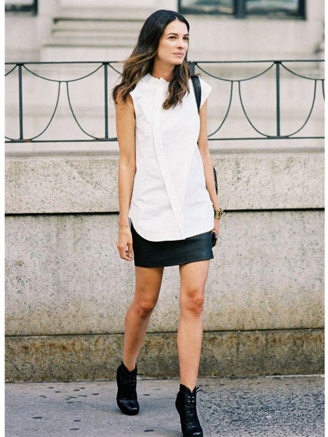 mini-skirt-women-summer-outfit-vanessa-jackman-leila-675x900 | 10 прекрасных идей нарядов весны и лета 2018