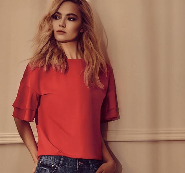 image19-1 | Как стильно носить красные блузки и рубашки летом и осенью 2018: 20 стильных идей