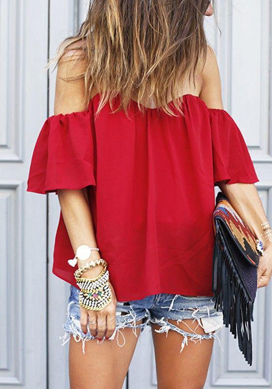 image2-11 | Как стильно носить красные блузки и рубашки летом и осенью 2018: 20 стильных идей