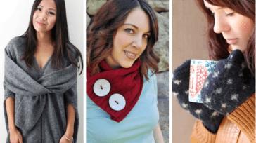 Полезные вещи из старого свитера