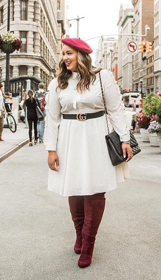 image12-21 | 39 стильных и элегантных платьев для полных женщин