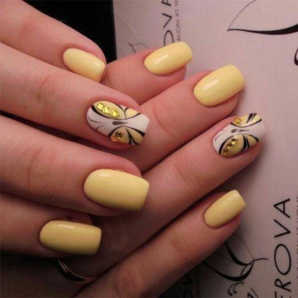 image12-28 | Идеи маникюра с бабочками на короткие ногти