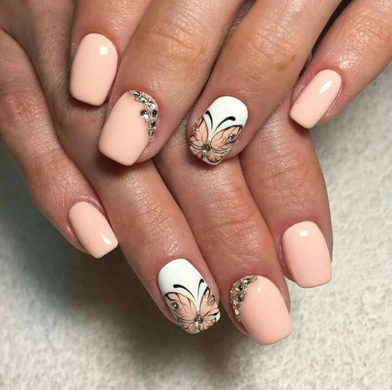 image2-31 | Идеи маникюра с бабочками на короткие ногти