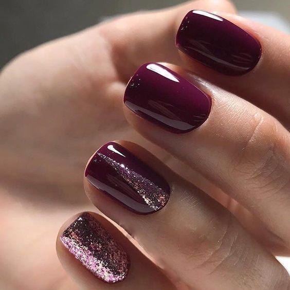 image2-33 | 28 идей бордового маникюра на короткие ногти