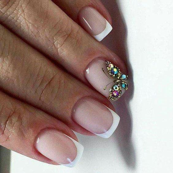 image21-16 | Идеи маникюра с бабочками на короткие ногти