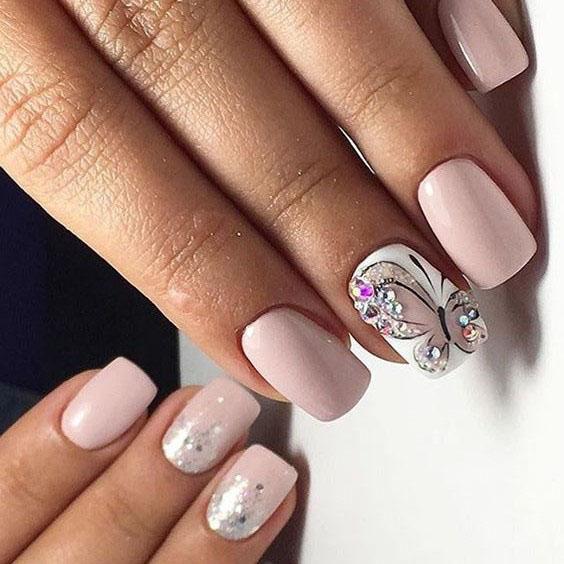 image22-16 | Идеи маникюра с бабочками на короткие ногти