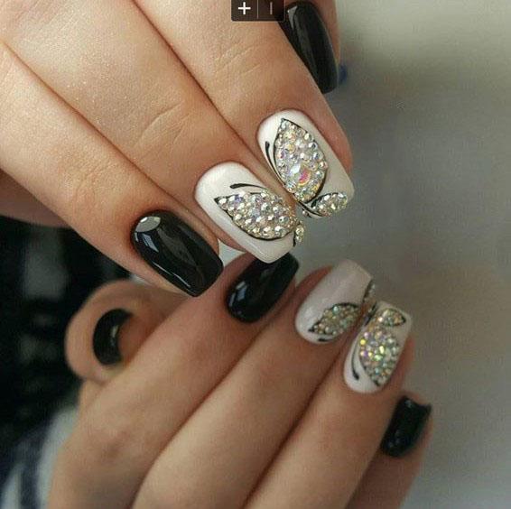image23-13 | Идеи маникюра с бабочками на короткие ногти