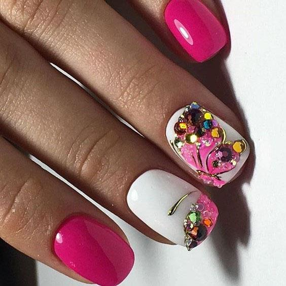 image25-13 | Идеи маникюра с бабочками на короткие ногти