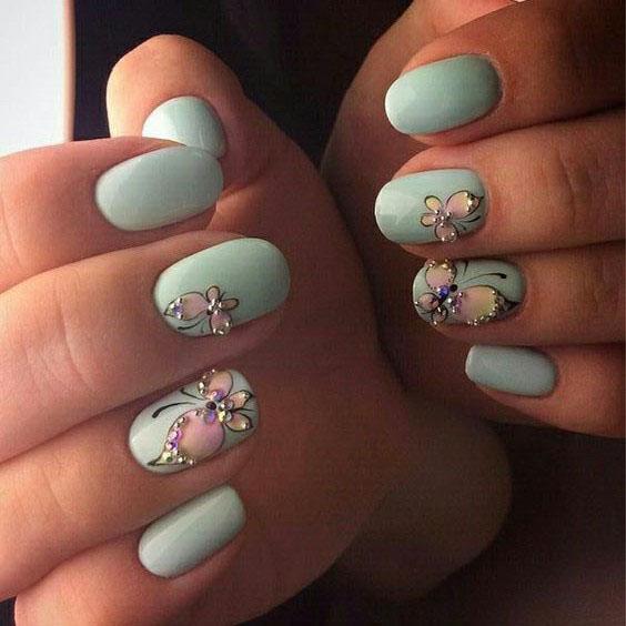 image27-11 | Идеи маникюра с бабочками на короткие ногти