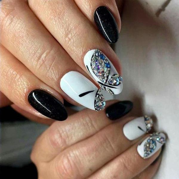 image31-10 | Идеи маникюра с бабочками на короткие ногти