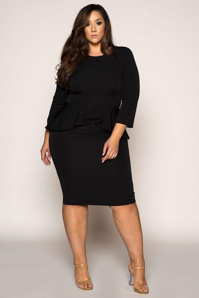 image33-4 | 39 стильных и элегантных платьев для полных женщин