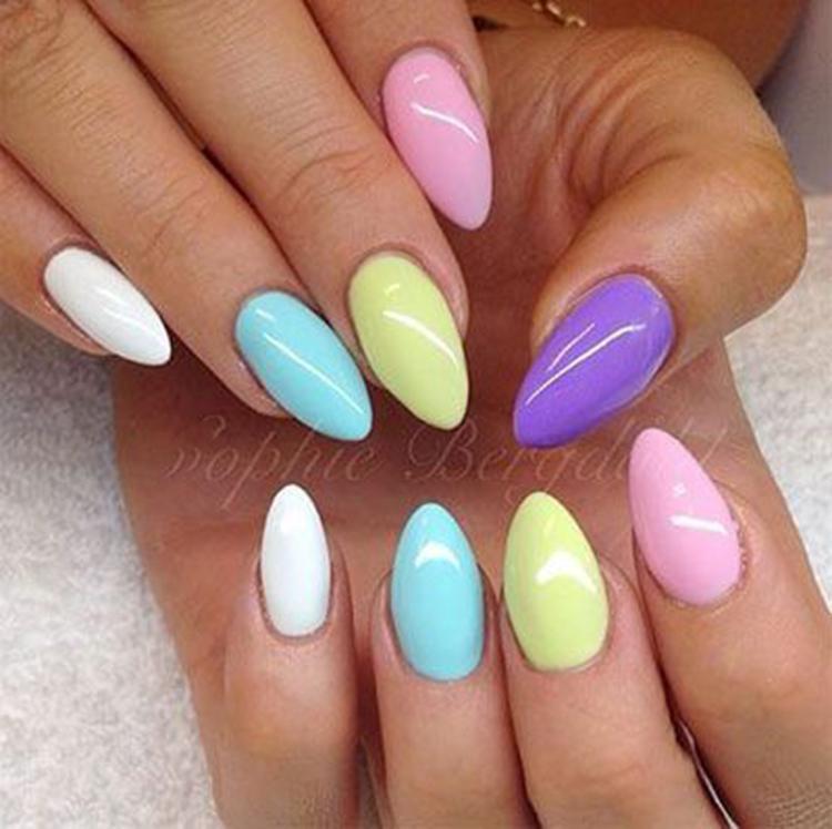 image25-20   34 идеи разноцветного маникюра — радуга на кончиках ваших пальцев